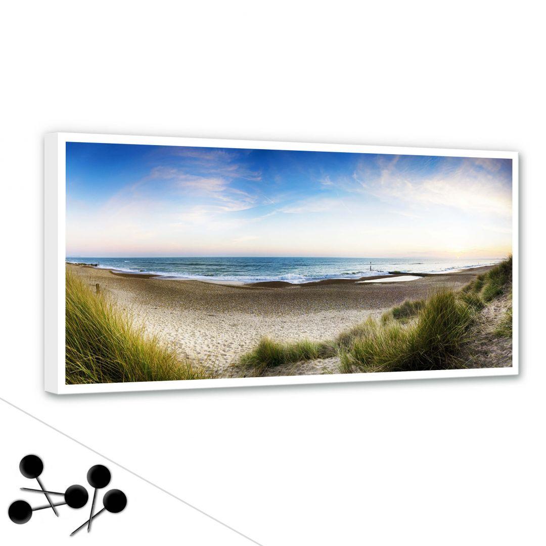Memoboard Strandpanorama inkl. 5 Pinnadeln - WA255459