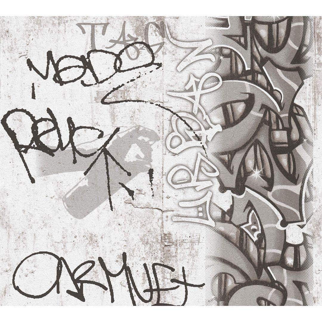 A.S. Création Papiertapete Boys & Girls 6 Tapete mit Graffiti grau, schwarz, weiss - WA267707