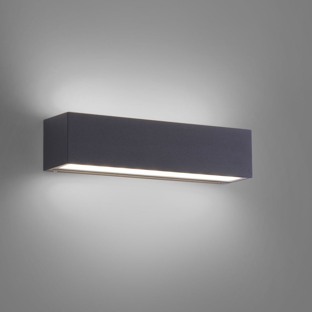 LED Aussenwandleuchte Robert aus Metall in Anthrazit, 250 mm Up- and Down - CL119542