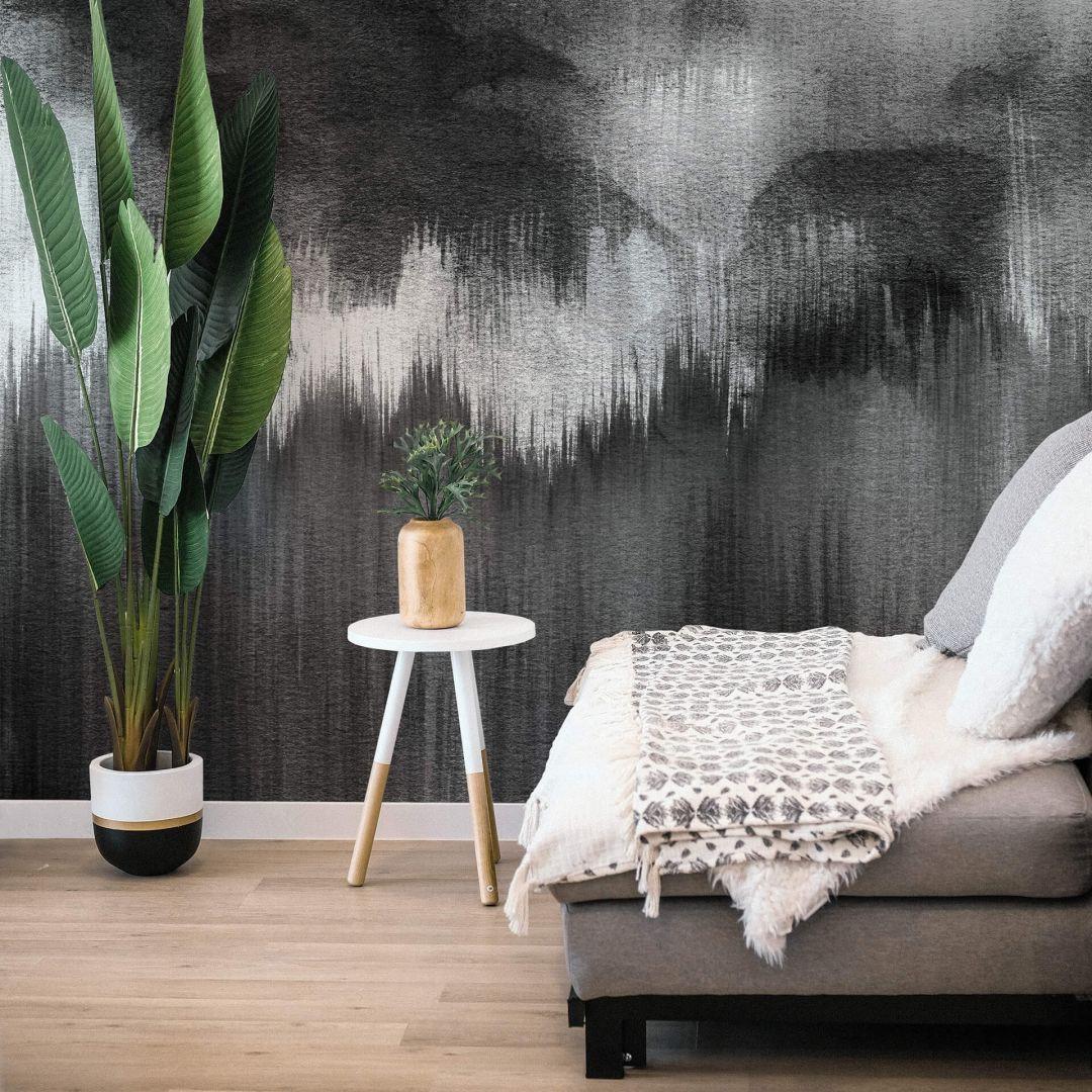 Fototapete Nouveauprints - Watercolour Brush Strokes (schwarz) - WA288835