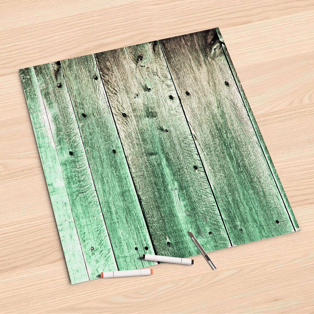 Folienbogen (60x60cm) - Plaue Planken - CR107161