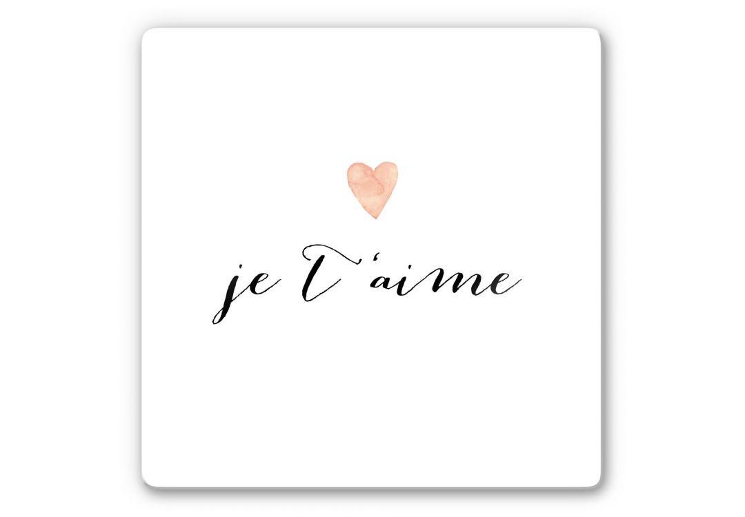 Glasbild Confetti & Cream - Je t'aime - WA252725