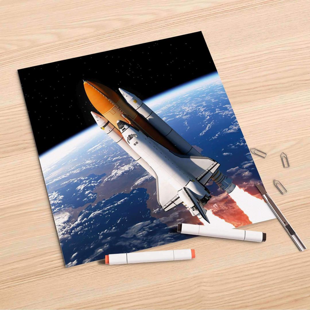 Folienbogen (30x30cm) - Space Traveller - CR106941