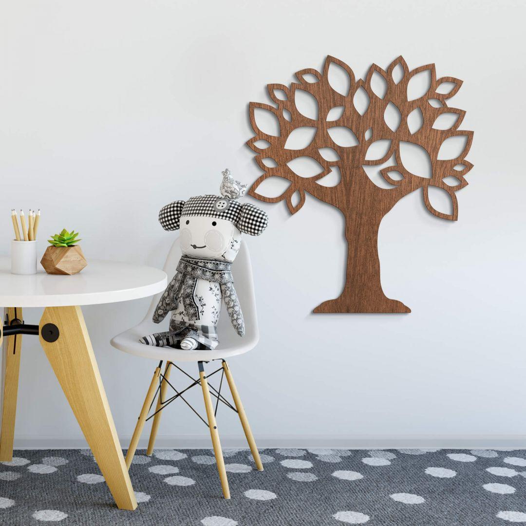 Holzkunst Mahagoni - Baum mit Blättern - WA253500