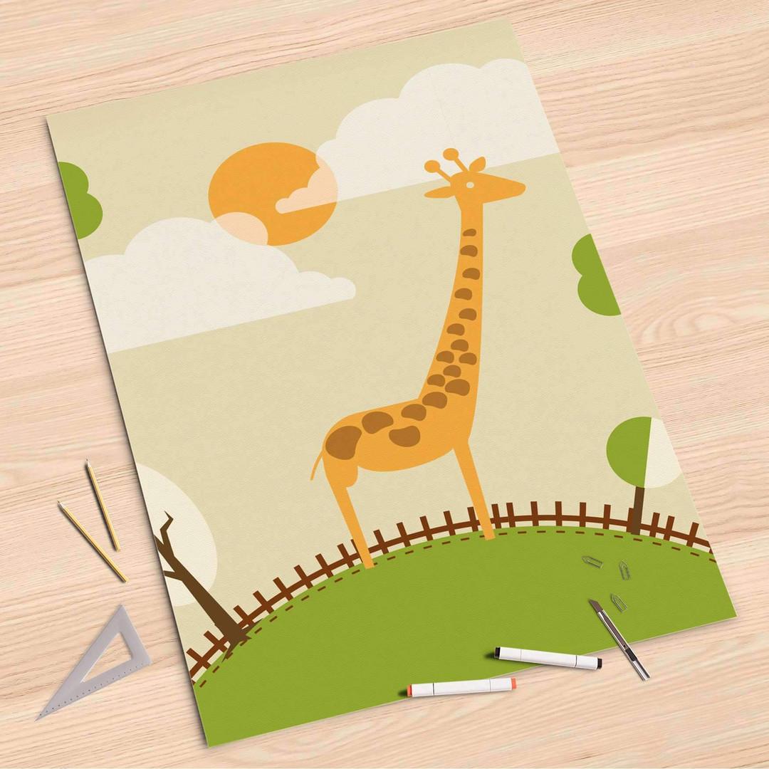 Folienbogen (80x120cm) - Mountain Giraffe - CR107374