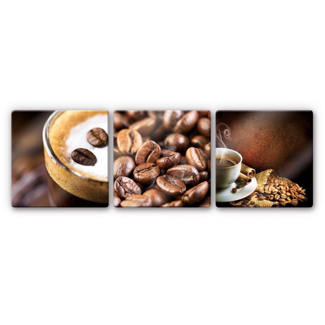 Glasbild Coffee Set (3-teilig) - WA121916