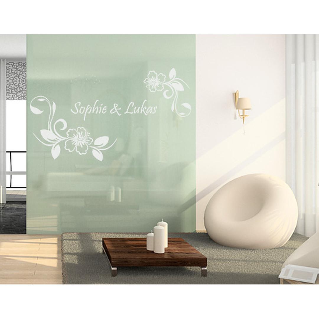 Glasdekor Wunschtext Hibiskustraum - CG10409