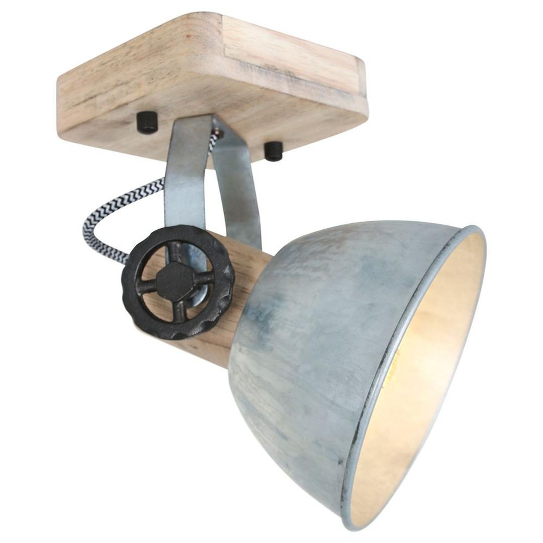 Spot Gearwood in Nickel und Braun E27 - CL129586