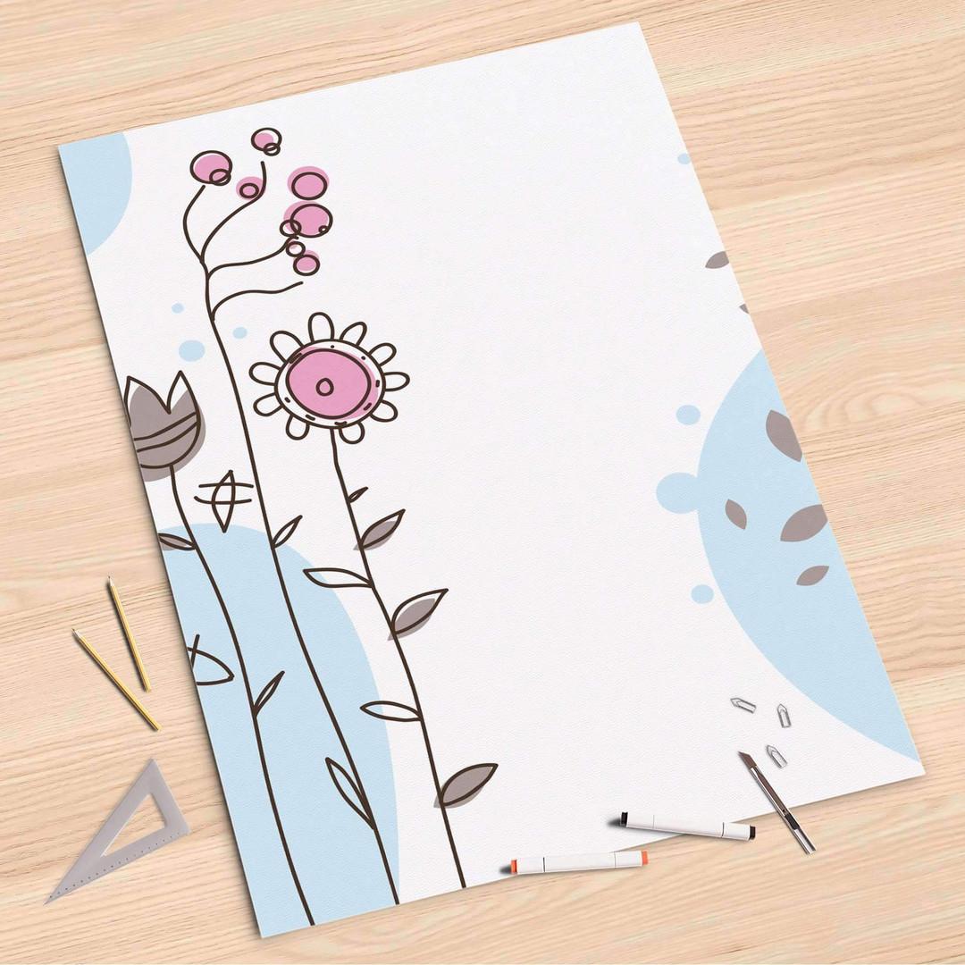 Folienbogen (80x120cm) - Flowers 3 - CR107320