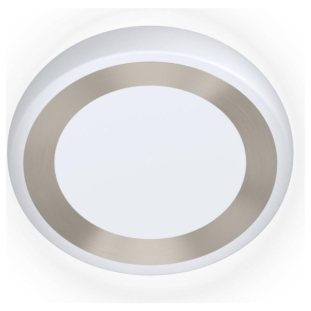 LED Wand- und Deckenleuchte Ruidera in Weiss und Silber 22W 2400lm - CL130244