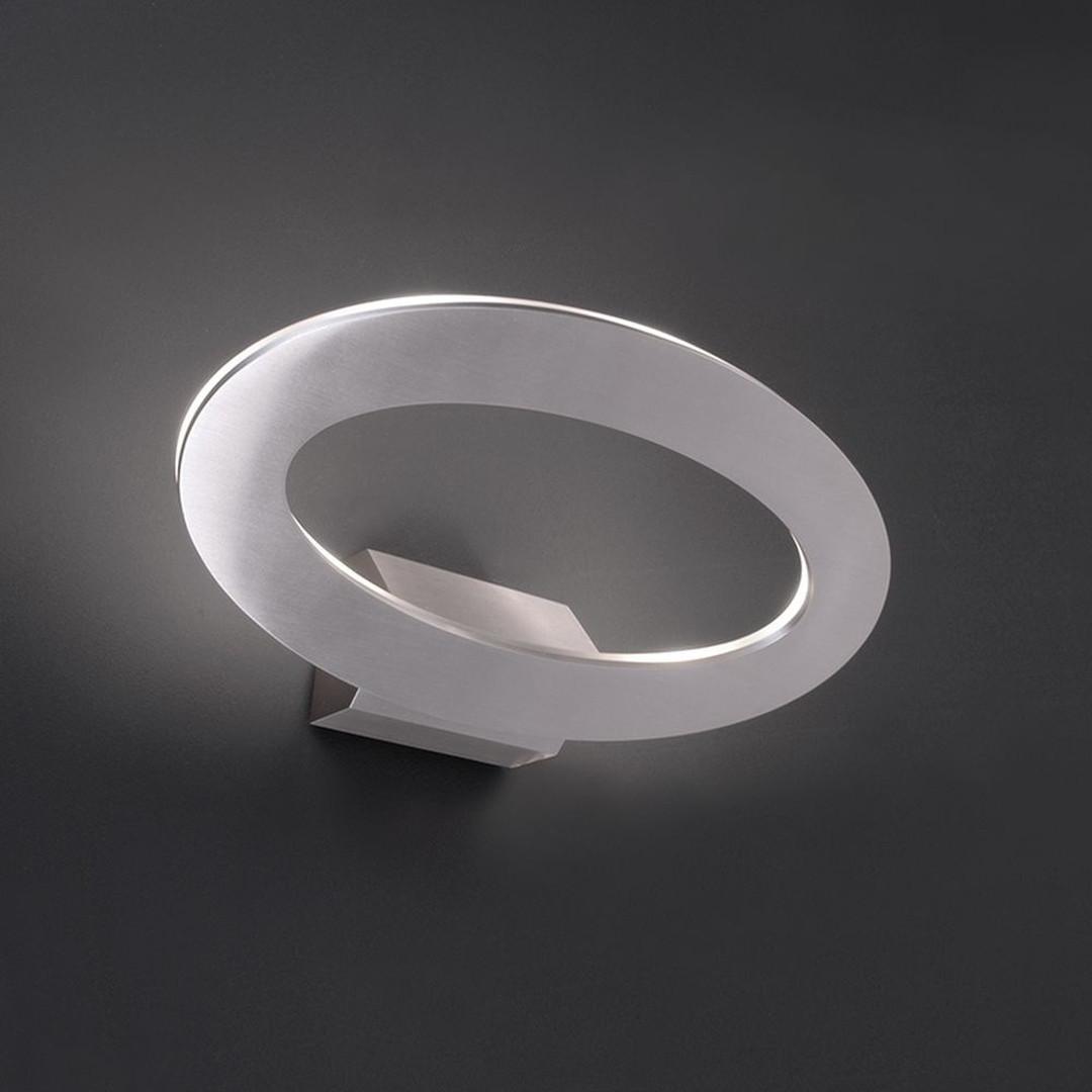 LED Wandleuchte Oval II in Silber 7W 3000K IP54 - CL102005