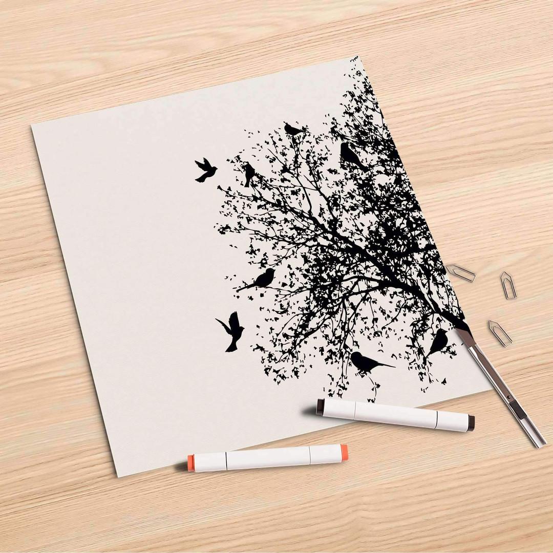 Folienbogen (30x30cm) - Tree and Birds 2 - CR106972