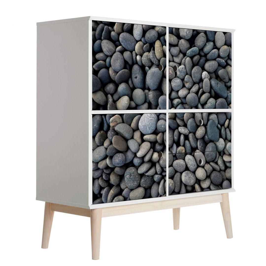 Möbelfolie Graue Steine am Strand - WA255776