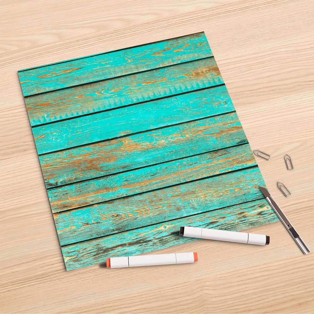Folienbogen (30x30cm) - Wooden Aqua - CR106995