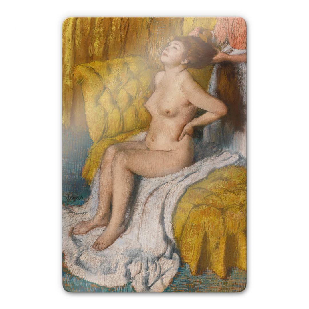Glasbild Degas - Eine Frau bekommt ihr Haar gebunden - WA252759