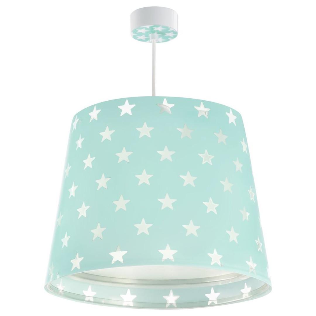 Kinderzimmer Pendelleuchte Stars in Grün fluoreszierend E27 - CL119717