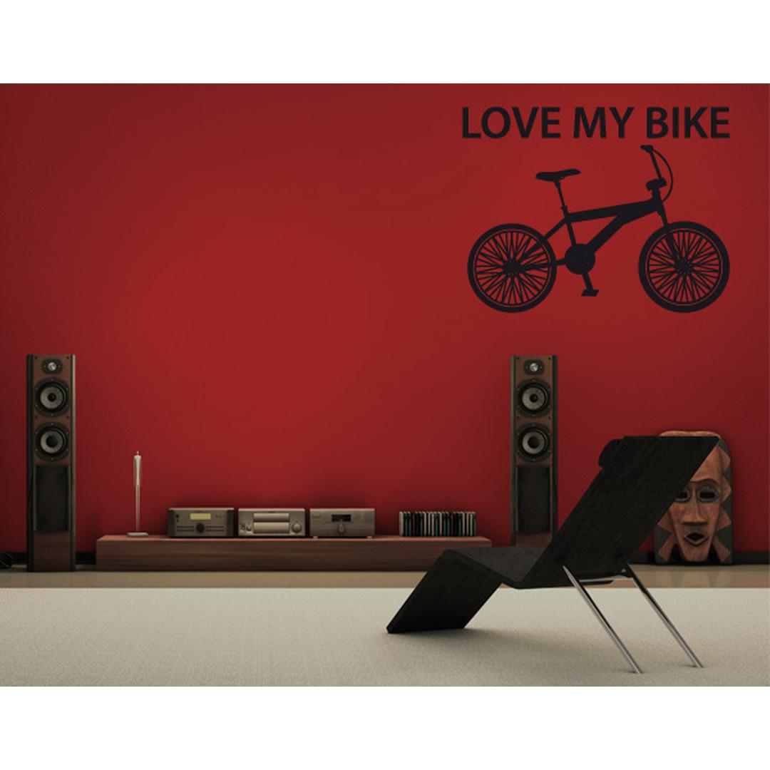 Wandtattoo I love my bike - TD16186