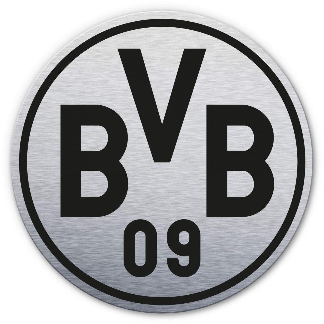 Alu-Dibond-Silbereffekt BVB Logo - WA252165