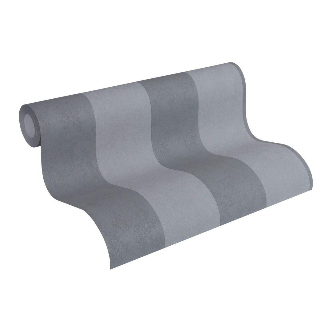 Vliestapete Premium Wall Tapete Blockstreifentapete grau - WA251041