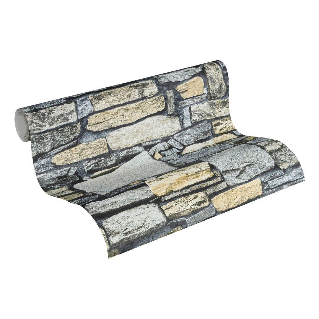 Vliestapete Premium Wall Tapete in Naturstein Optik blau, creme, grau - WA251182