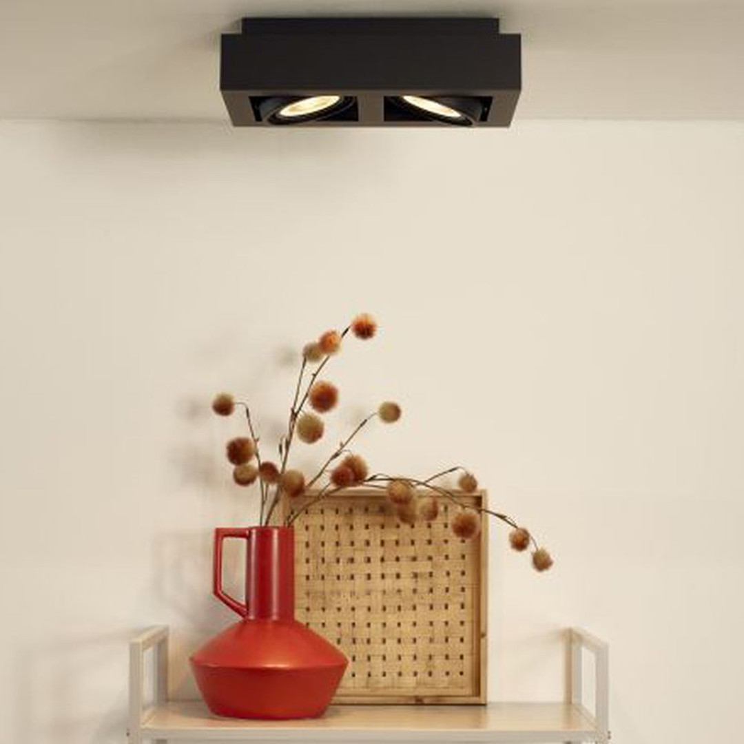 LED Deckenstrahler ZEFIX GU10 2x12W in Schwarz 2-flammig - CL120254