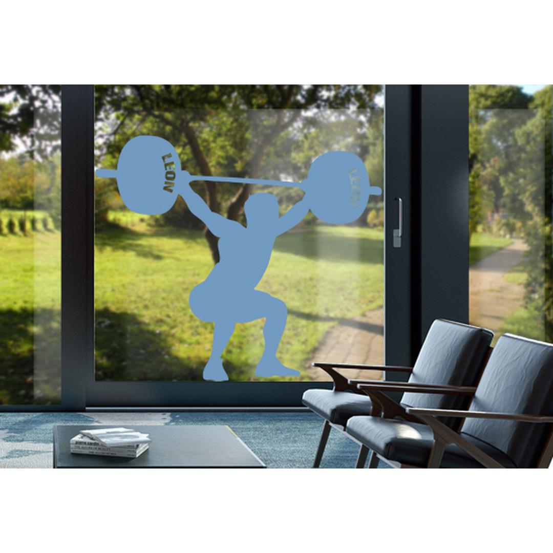 Glasdekor Wunschtext Schwergewichtler - CG10423