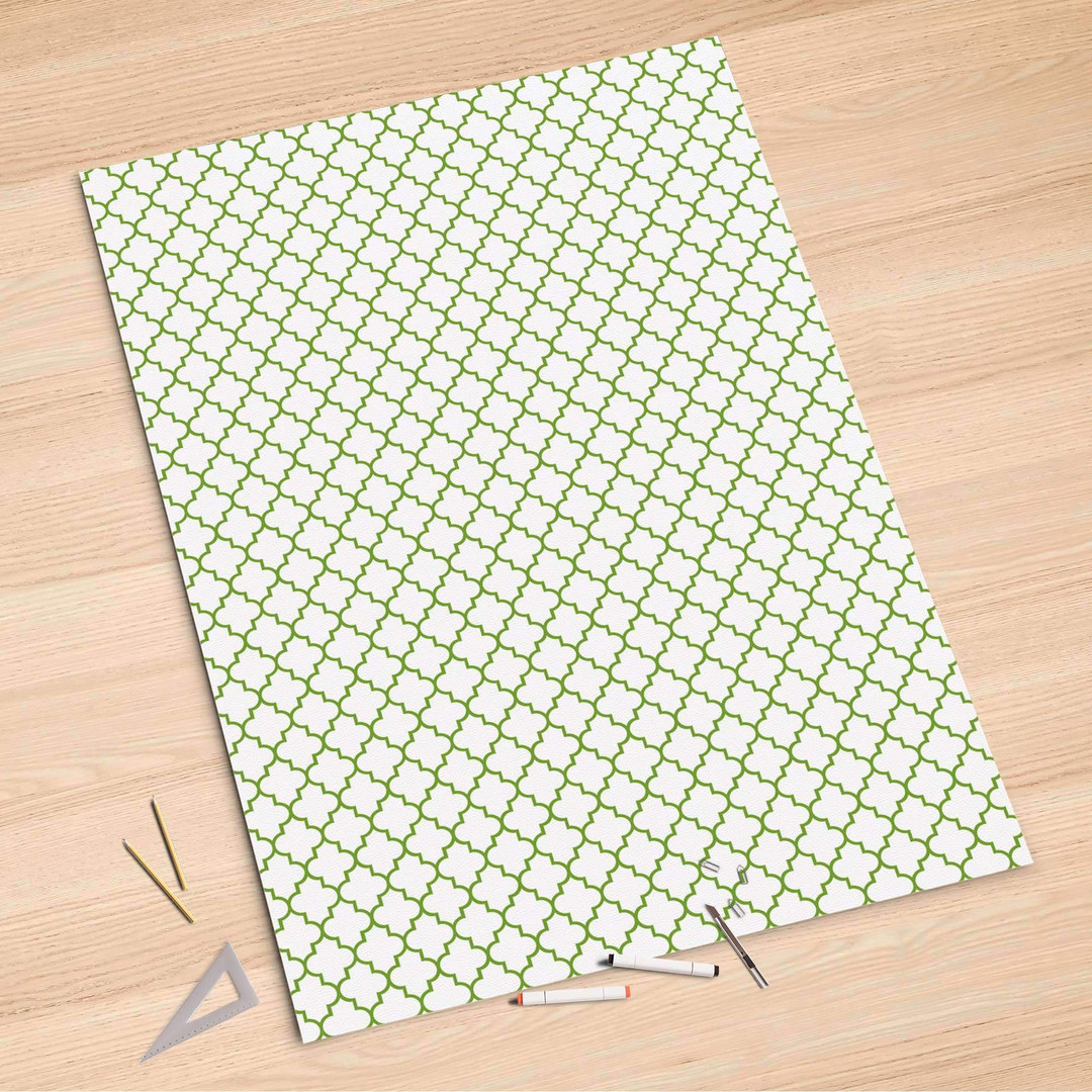 Folienbogen (100x150cm) - Retro Pattern - Grün - CR106250