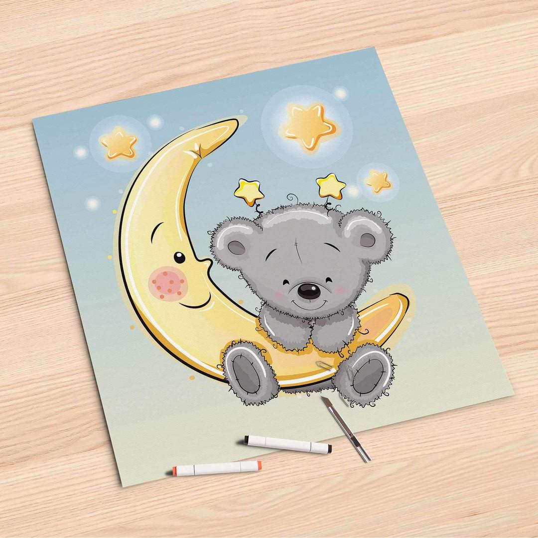 Folienbogen (60x60cm) - Teddy und Mond - CR107213