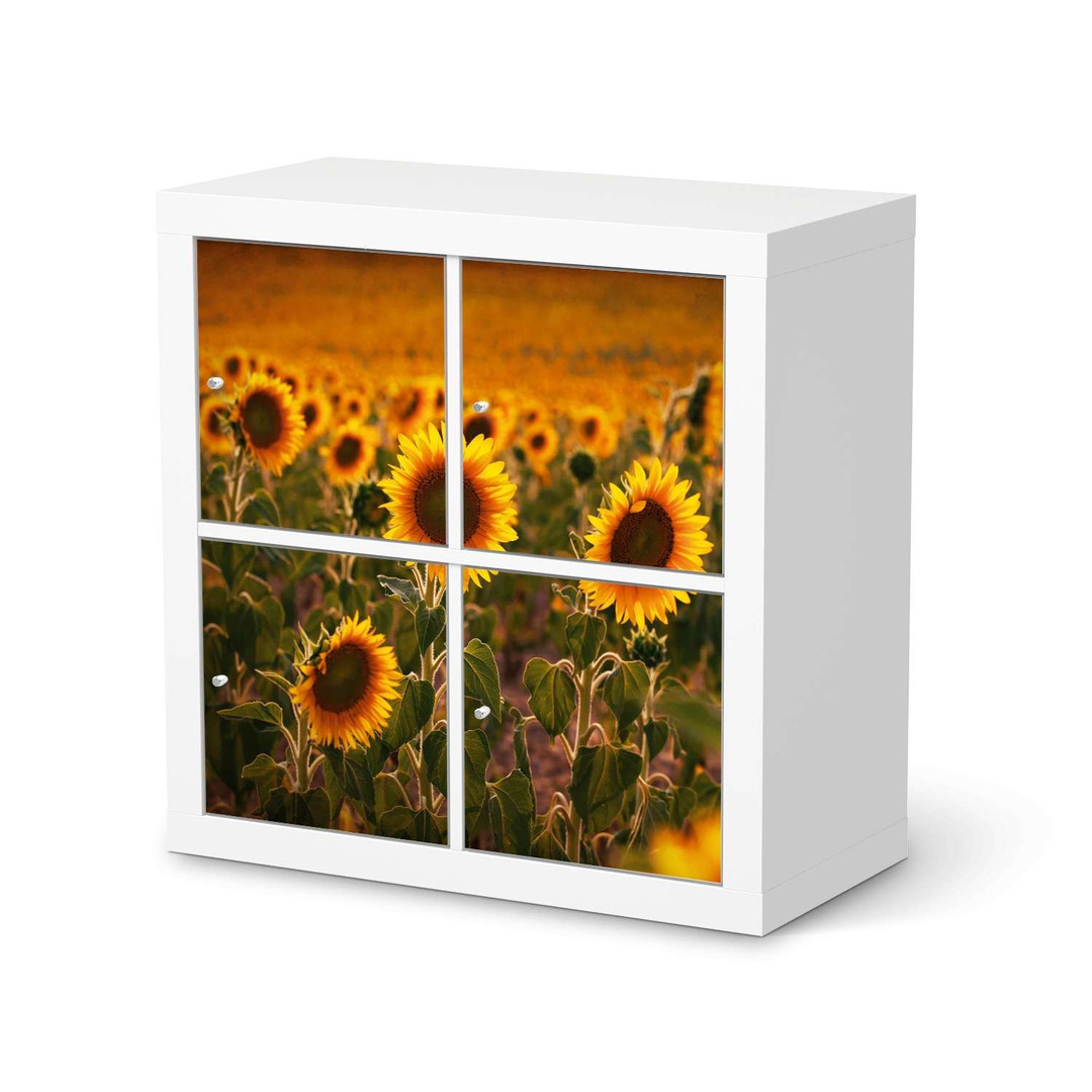 Möbelfolie IKEA Expedit Regal 4 Türen - Sunflowers - CR114589