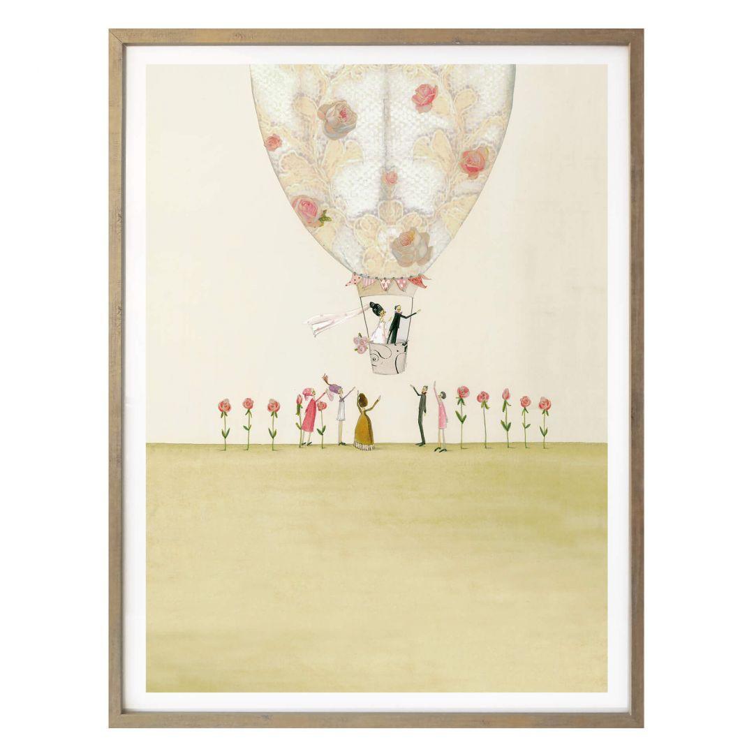 Poster Leffler - Hochzeitsballon - WA258472