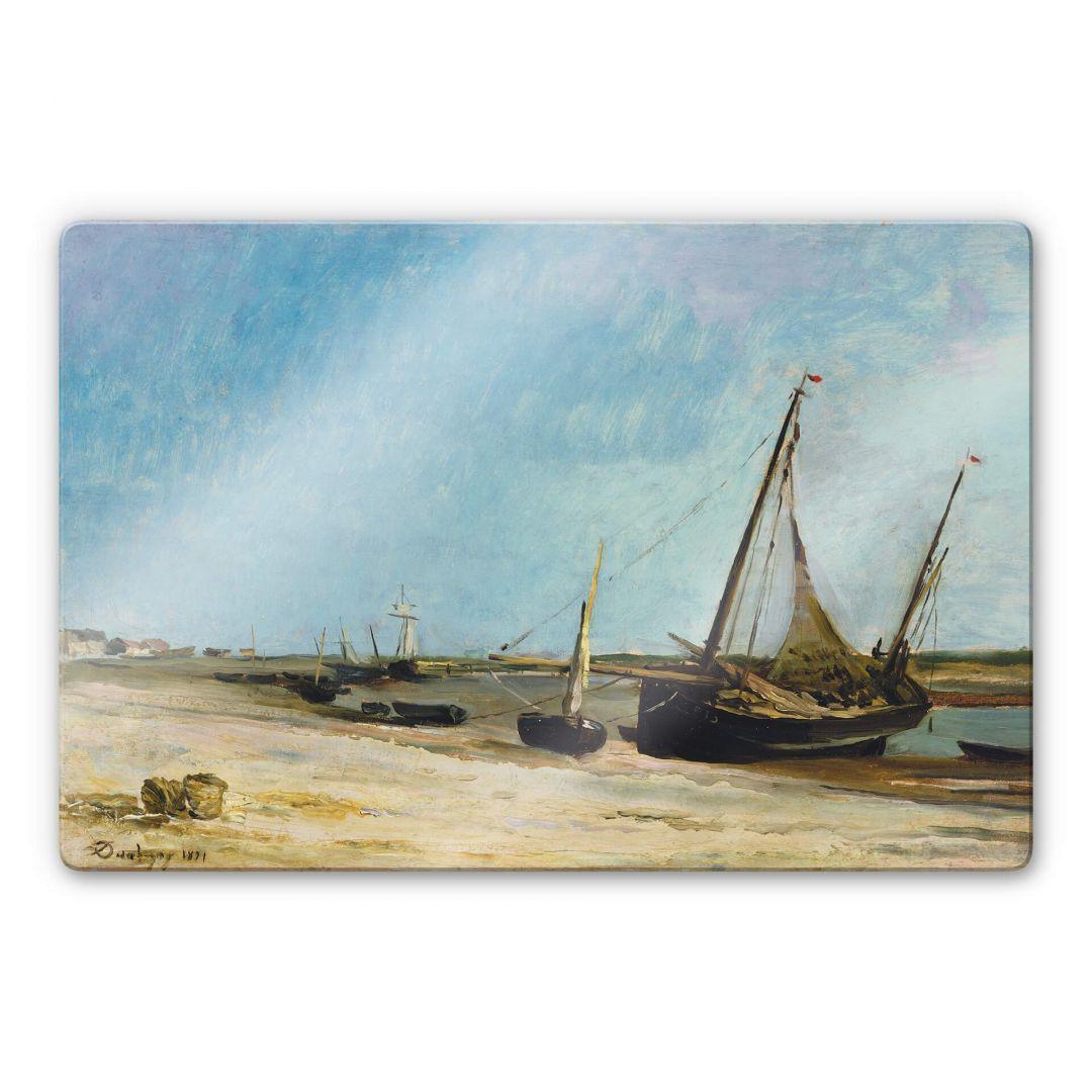 Glasbild Daubigny - Boote am Strand von Ètaples - WA252745