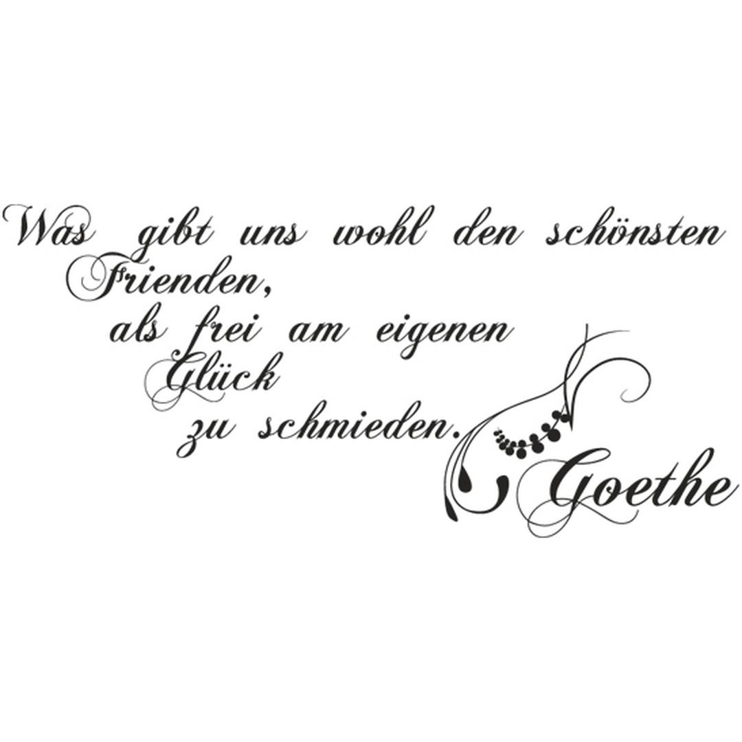 Glasdekor Goethe Zitat