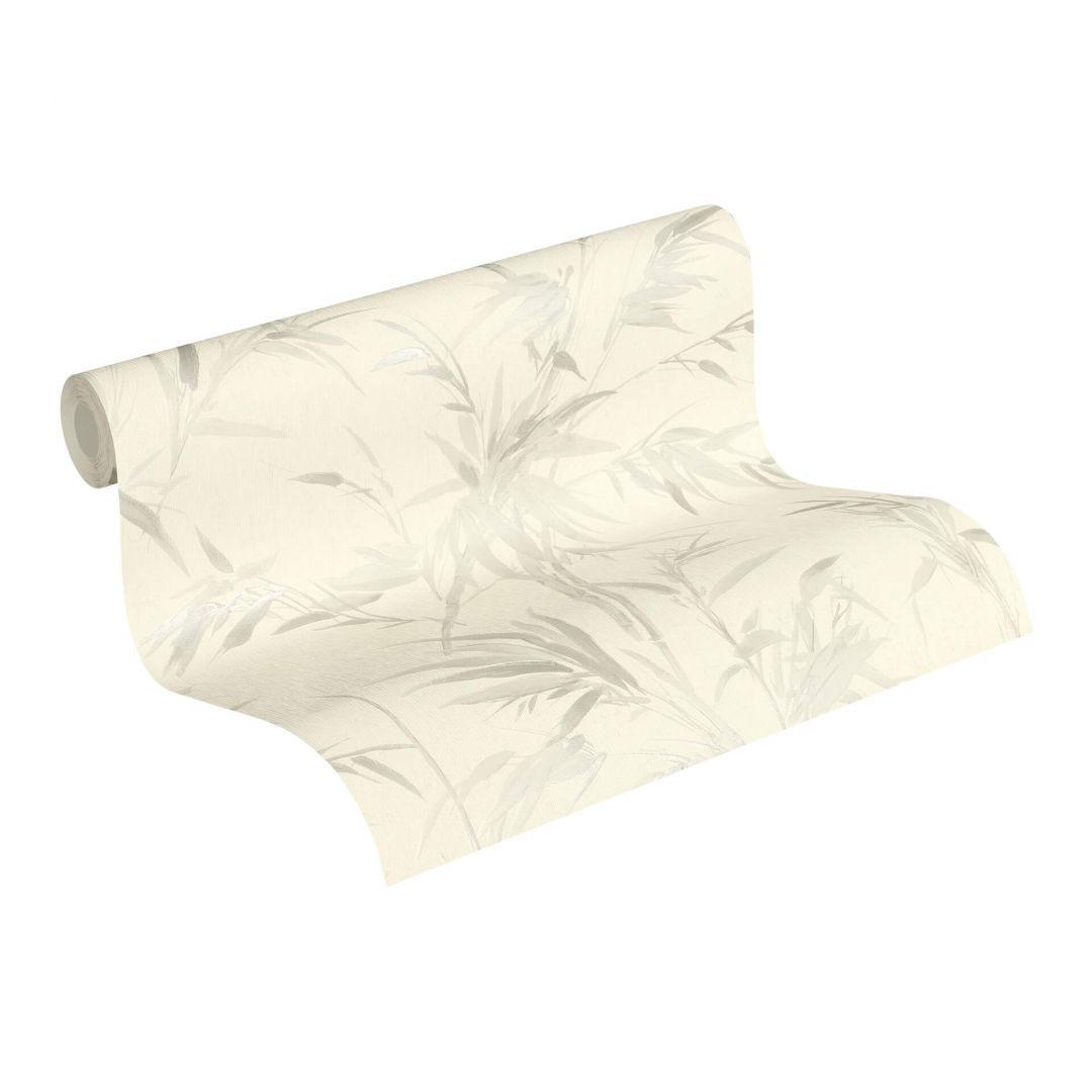 A.S. Création Vliestapete Sumatra Tapete mit Palmenblättern weiss, grau - WA288310