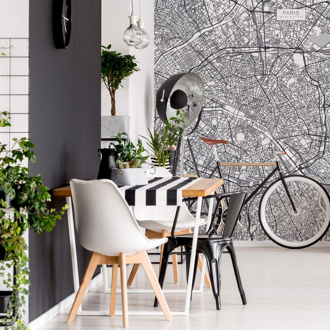 Fototapete Stadtplan Paris - WA252628