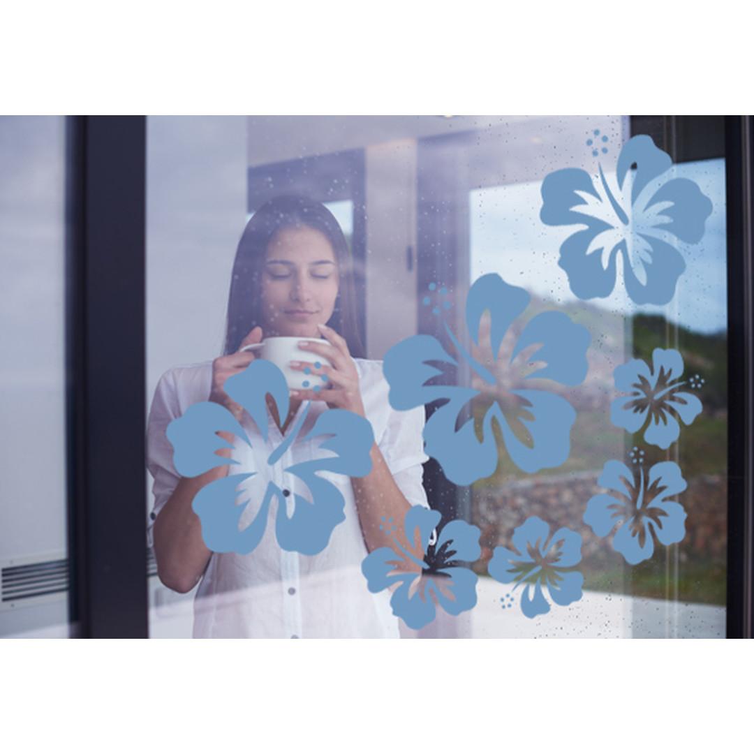 Glasdekor Hibiskus Blüten - CG10273