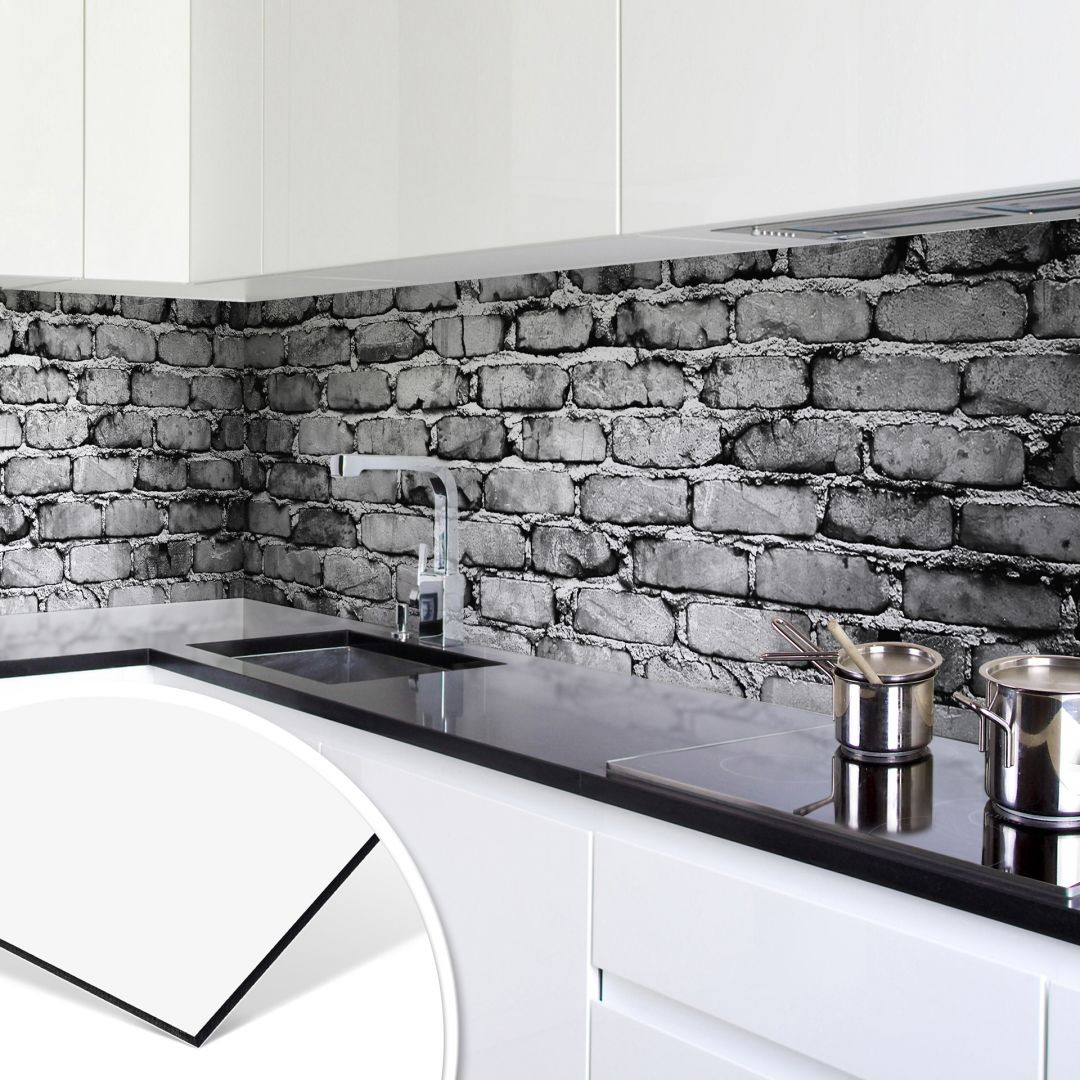 Küchenrückwand - Alu-Dibond - Mauer 04 - trenddeko.ch