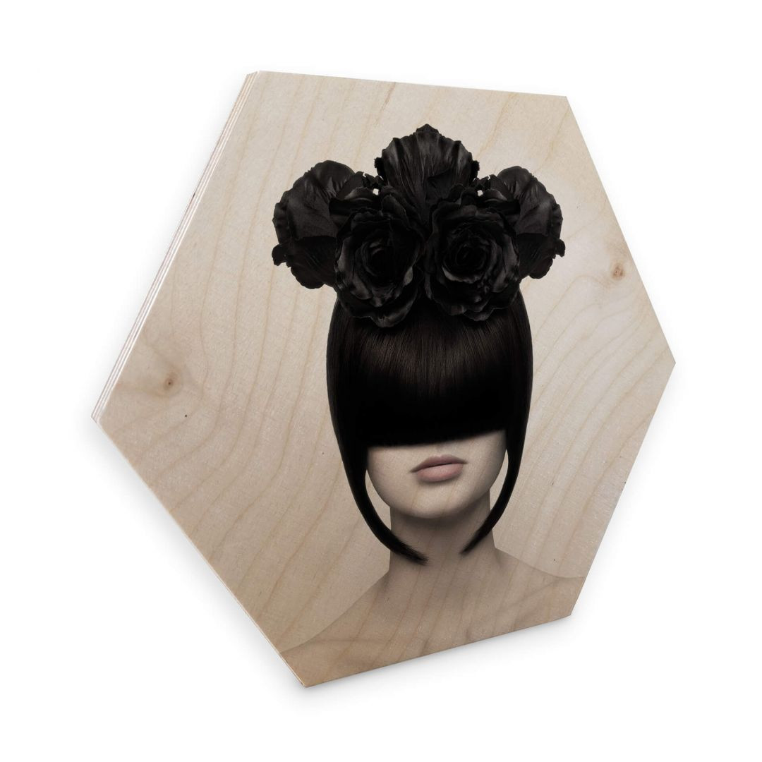 Hexagon - Holz Birke-Furnier - Nemcekova - Black Widow - WA253335