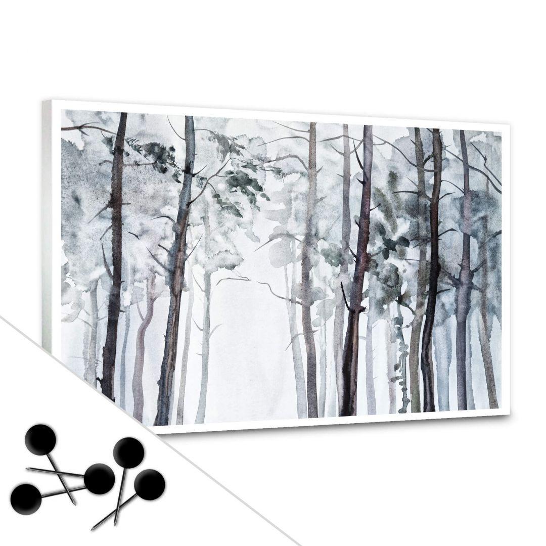 Pinnwand Aquarell Wald inkl. 5 Pinnadeln - WA256587