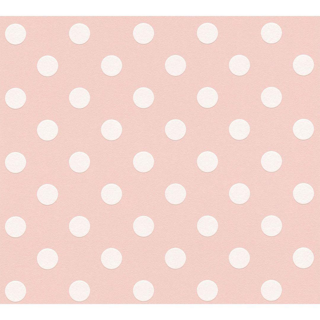 A.S. Création Vliestapete Boys & Girls 6 Tapete gepunktet rosa, weiss - WA267851