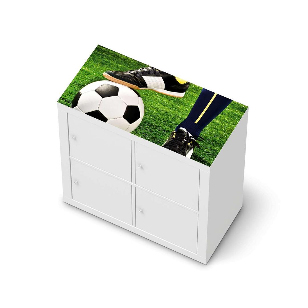Möbelfolie IKEA Expedit Regal oben - Fussballstar - CR114631