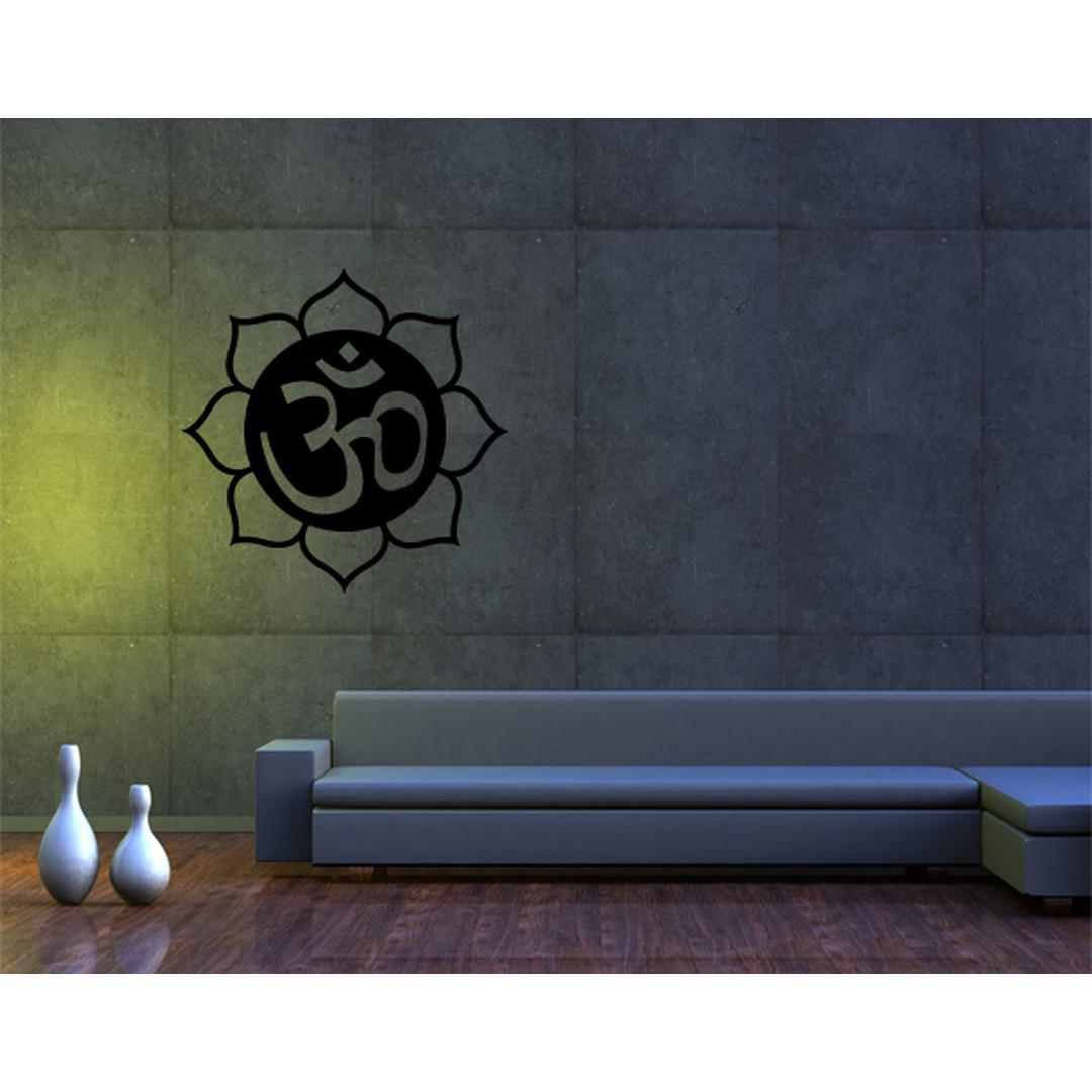 Wandtattoo Om-Zeichen in Lotusblüte II - TD16469