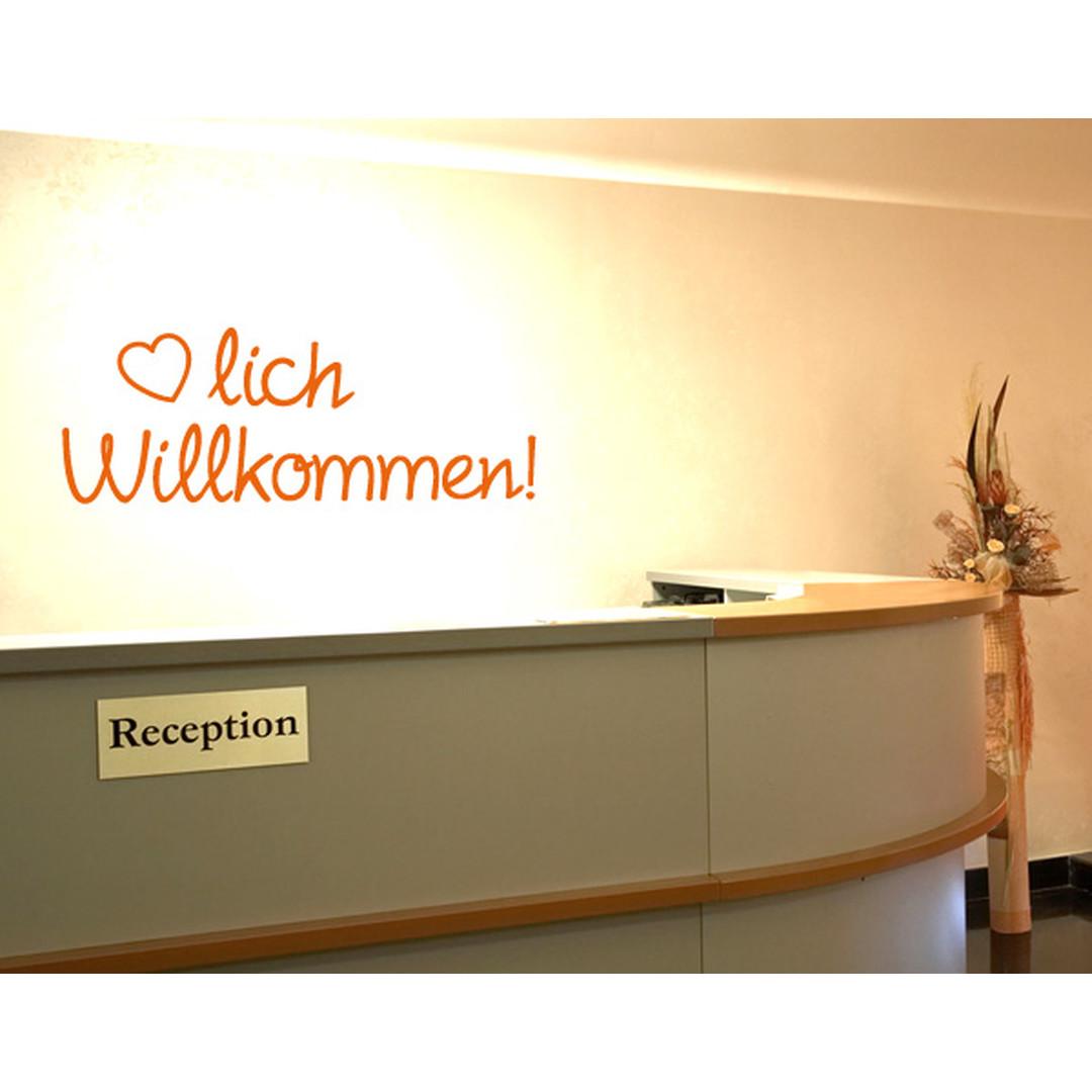 Wandtattoo Herzlich Willkommen - TD16016