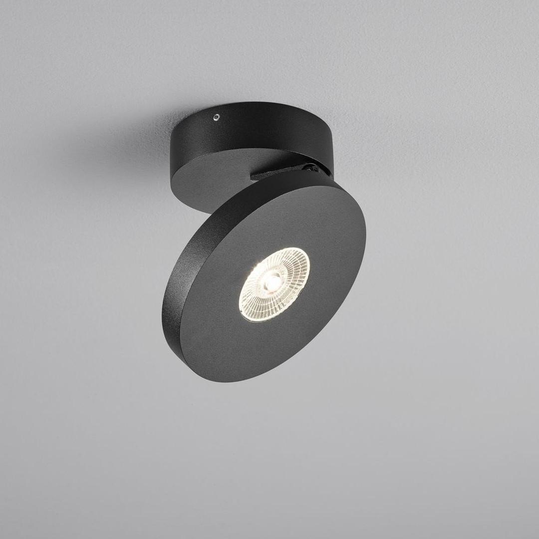 LED Deckeneinbaustrahler Goto in Schwarz-matt und Transparent 7W 580lm IP54 - CL119902
