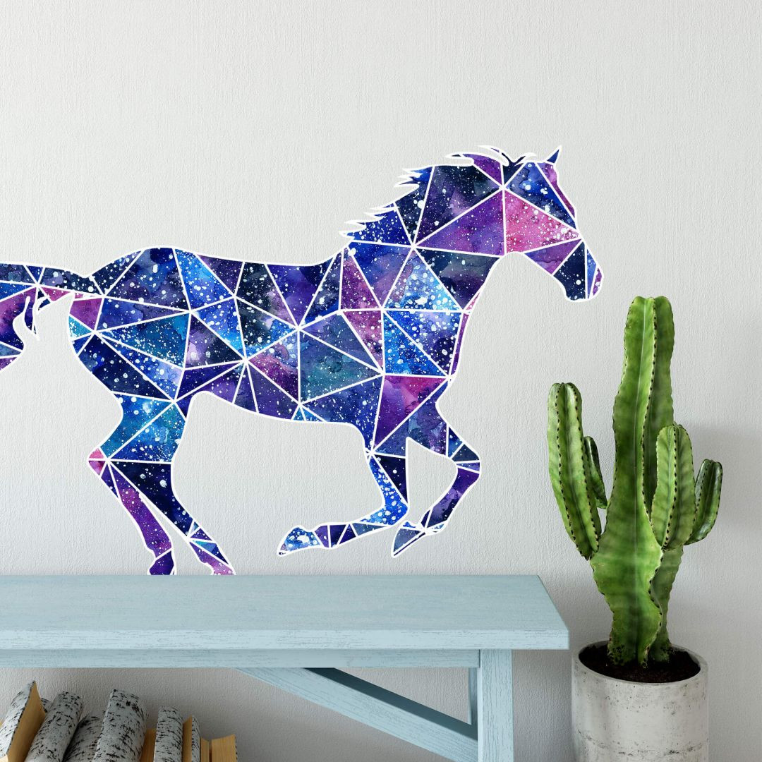 Wandtattoo Polygon Galaxie Mustang - WA287786