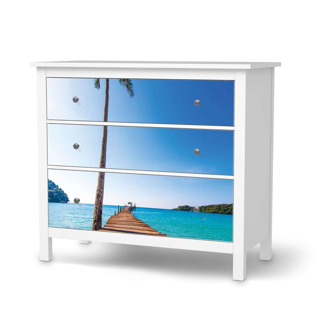 Möbelfolie IKEA Hemnes Kommode 3 Schubladen - Caribbean - CR114704