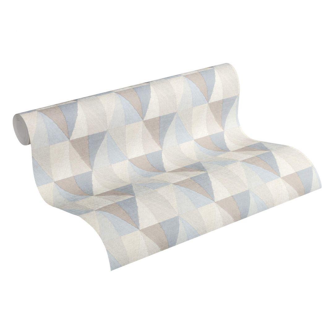 A.S. Création Vliestapete Scandinavian 2 Tapete geometrisch grafisch blau, grau, braun - WA251344