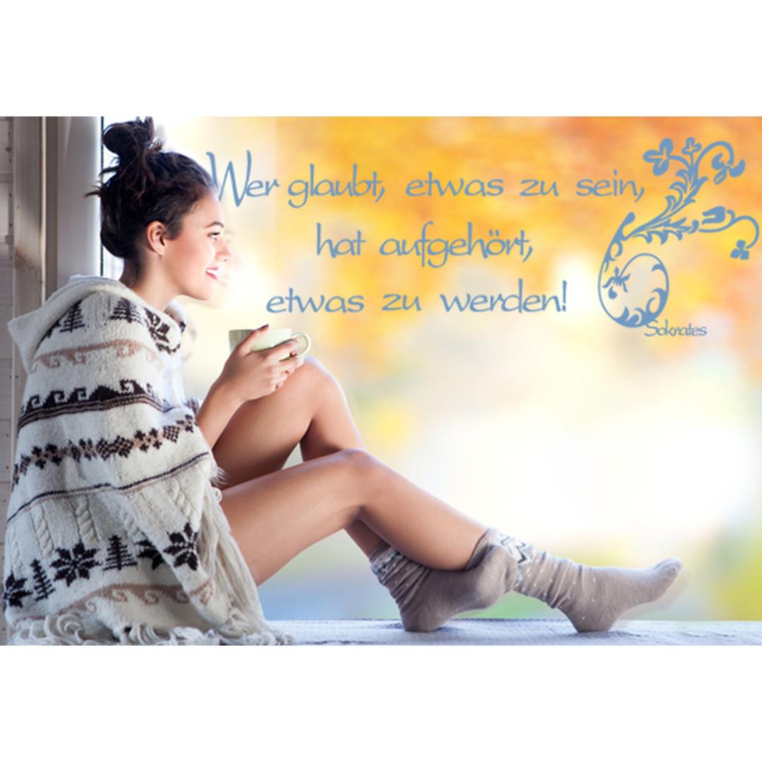Glasdekor Sokrates Zitat - CG10284