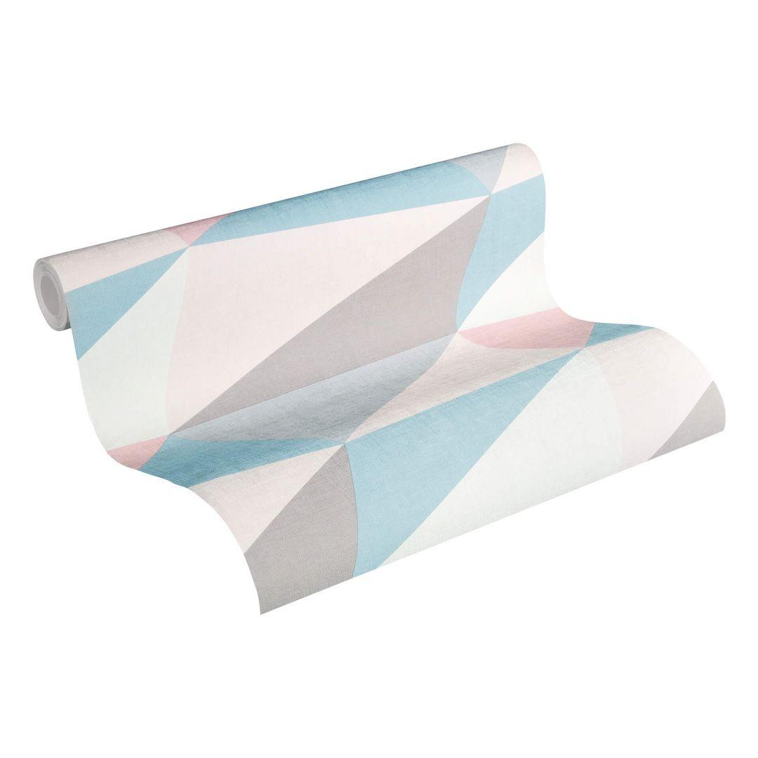 A.S. Création Vliestapete Scandinavian 2 Tapete in 3D Optik geometrisch blau, rosa, grau - WA251386