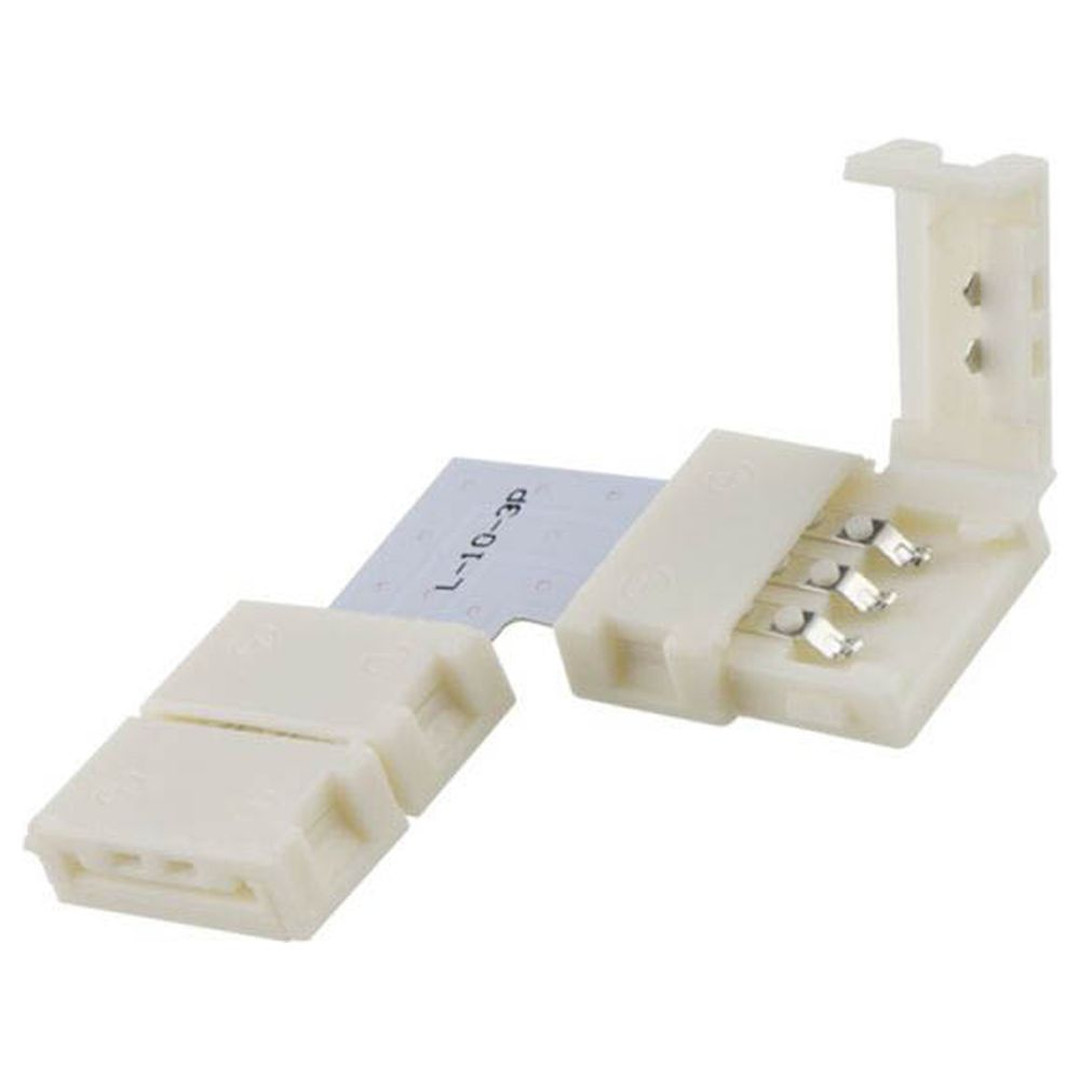 Clip-Eck-Verbinder (max. 5A) für 3-pol. IP20 Flexstripes mit Breite 10mm, Pitch-Abstand >12mm - CL120433