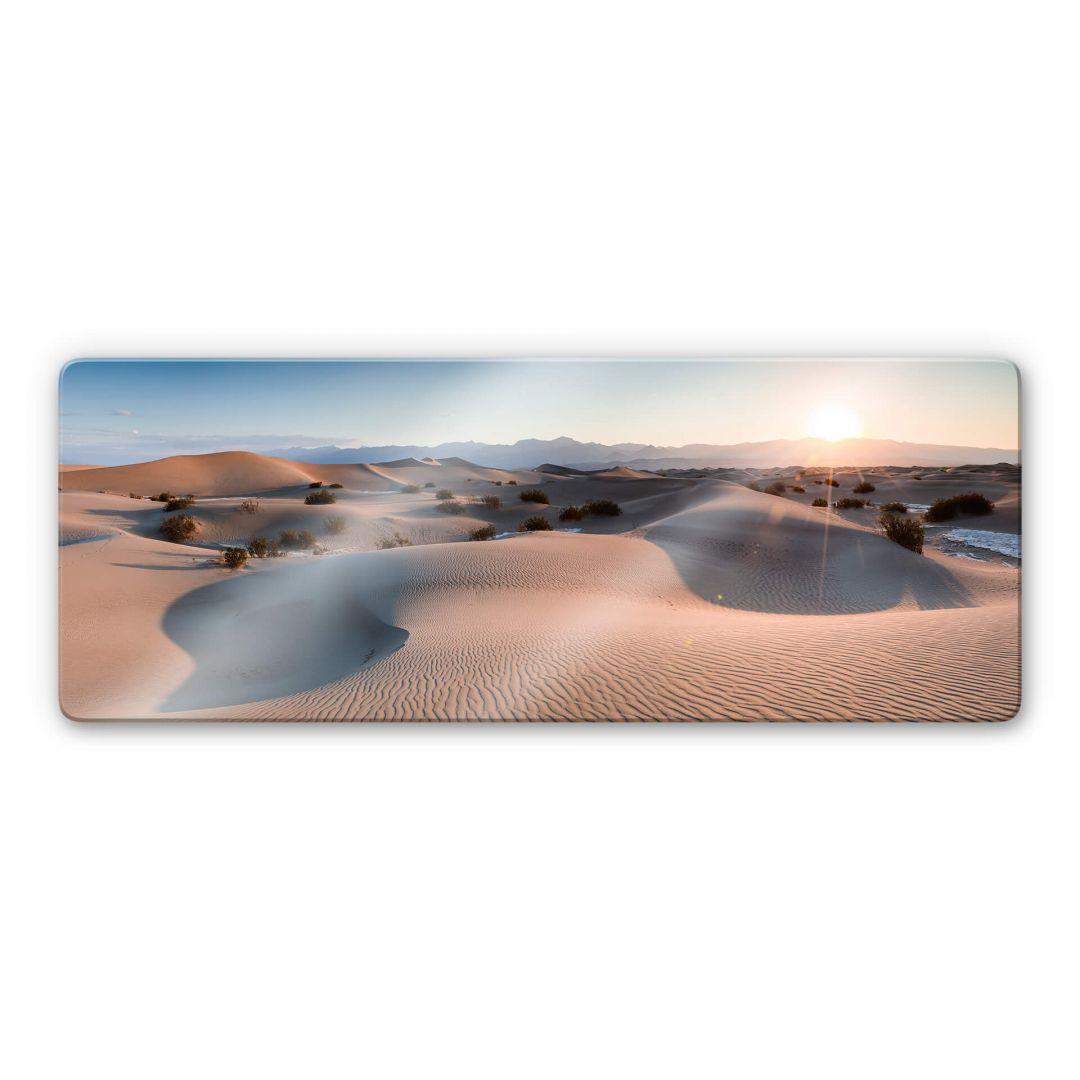 Glasbild Colombo - Die Wüste von Death Valley - Panorama - WA288867